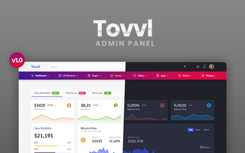 Tovvl - Bootstrap 4 Responsive Dashboard Admin Template