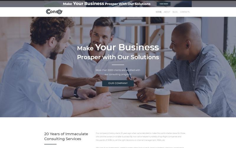 Consor lite - тема WordPress для бизнес-консалтинга Elementor