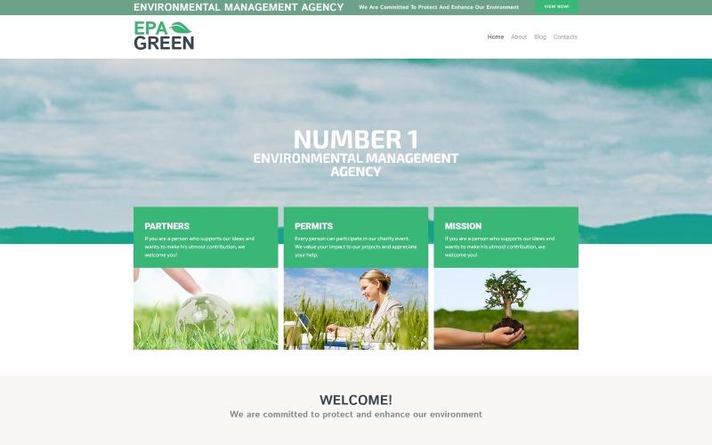 Epa Green Lite - экологичная тема WordPress