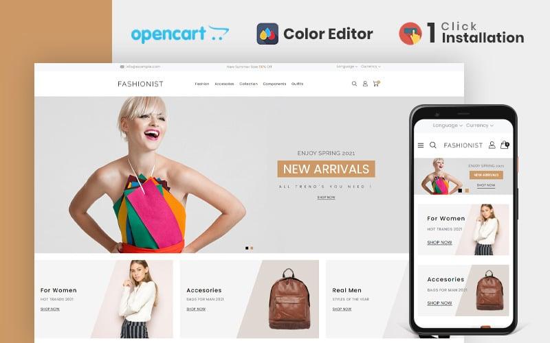 Fashionist Fashion Store OpenCart-sjabloon