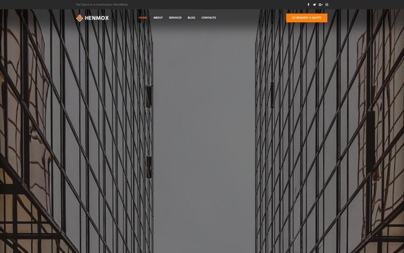 Henmox - tema de elemento WordPress moderno multiuso para construção