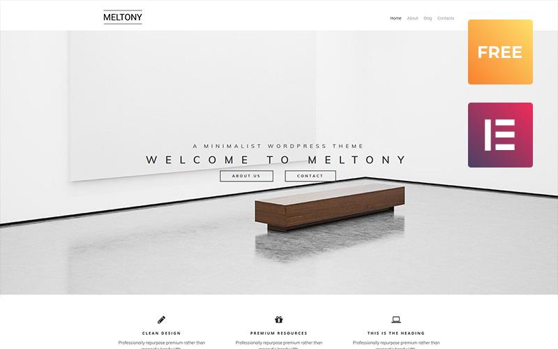 Meltony lite - минимальная многоцелевая тема WordPress Elementor