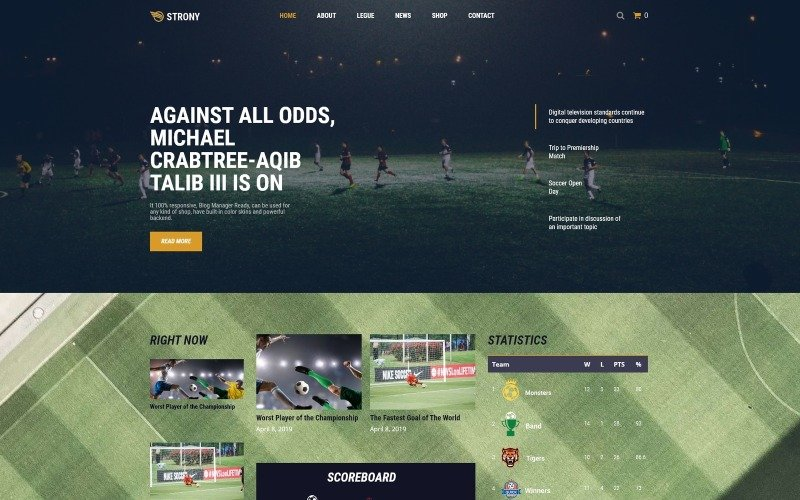 Strony - Sport Classic WordPress Elementor Theme