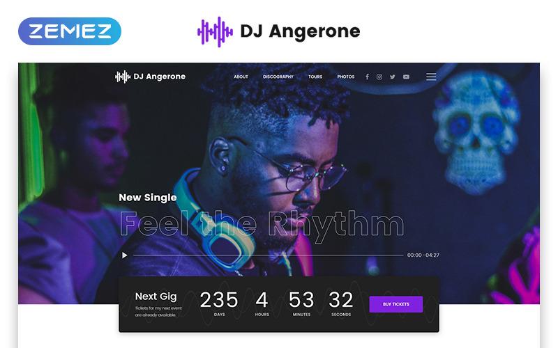 DJ Angerone - Plantilla de sitio web HTML moderno multipágina de música