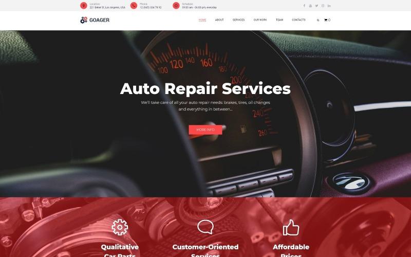 Goager - Thème WordPress Elementor moderne de réparation automobile ECommerce