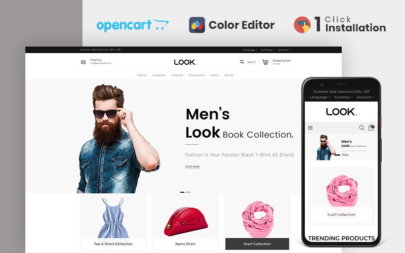 Look Fashion Store OpenCart Template