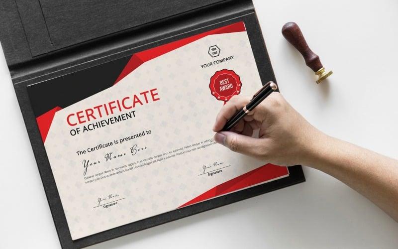 Red&Gray Achievement Certificate Template