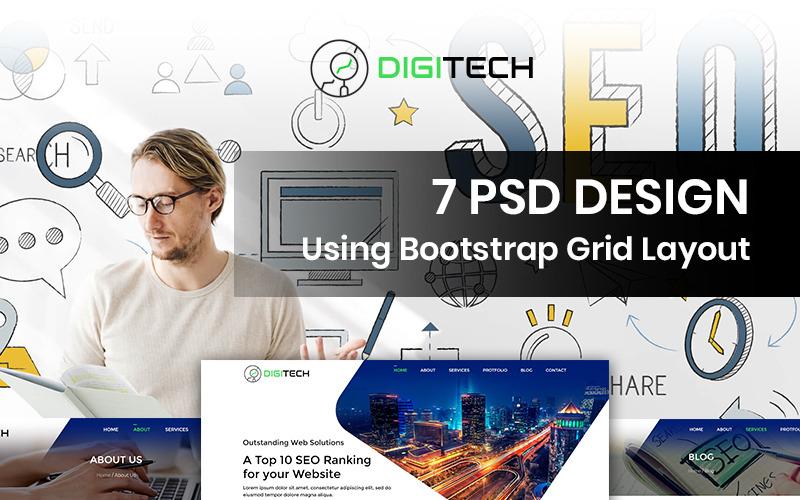 DigiTech - SEO Company PSD Template