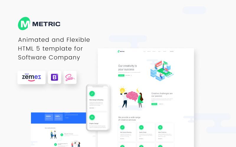Метрика - шаблон сайта креативного цифрового агентства