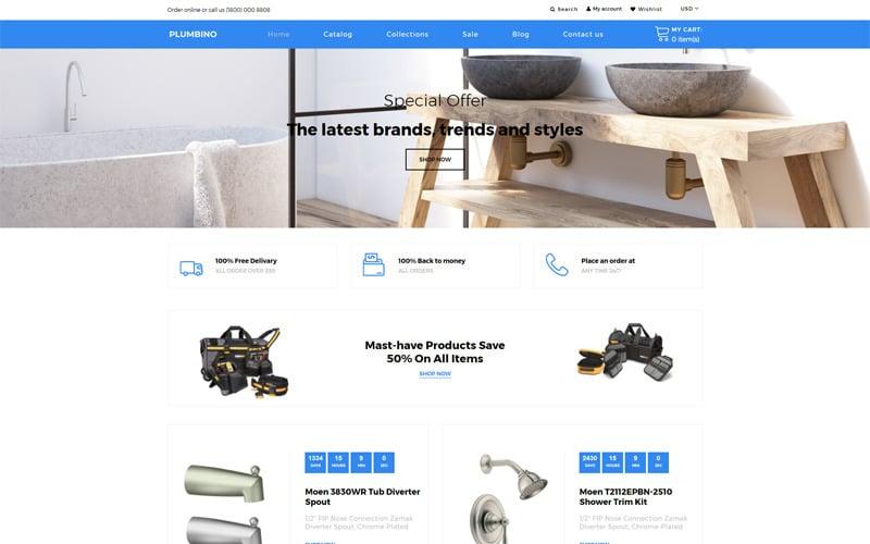 Plumbino - Plumbing eCommerce Modern Shopify Theme