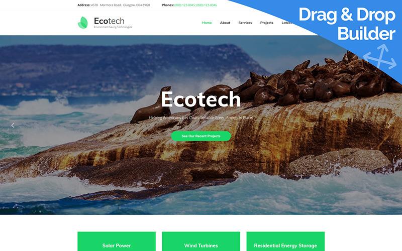 Ecotech-环境Moto CMS 3模板