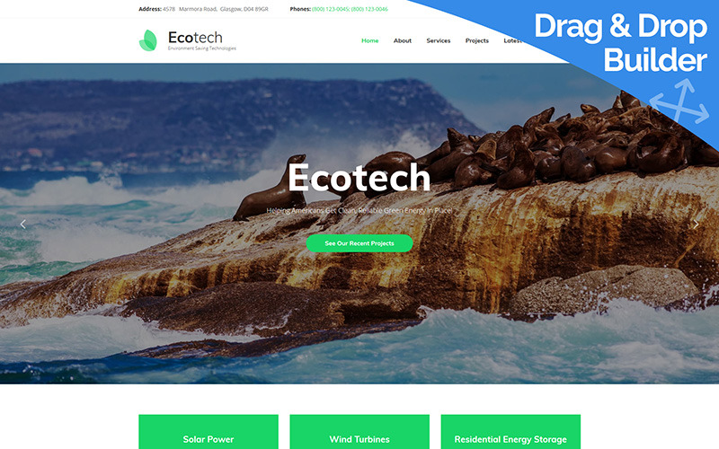 Ecotech - Milieu Moto CMS 3-sjabloon