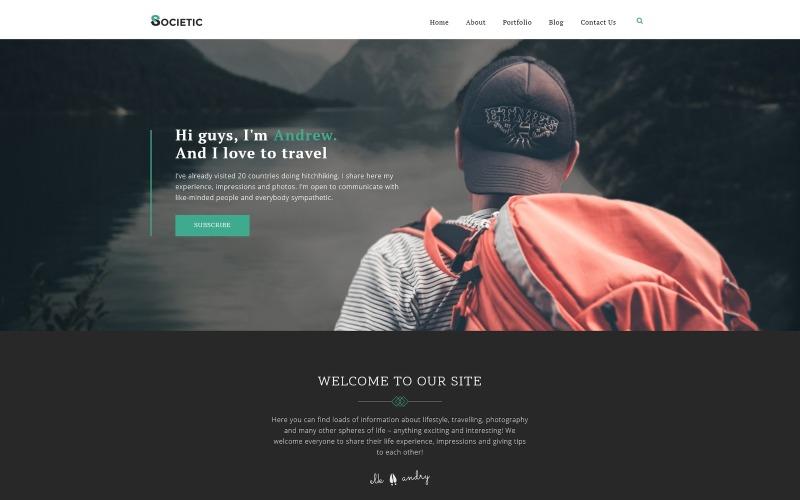 Samhälle - Livsstilsblogg Multipurpose Modern WordPress Elementor Theme