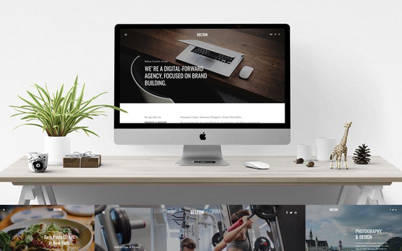 Belton - Minimal Black and White Joomla Template