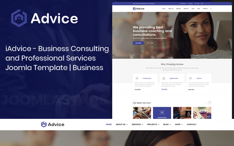 iAdvice - Business Consulting Joomla Template
