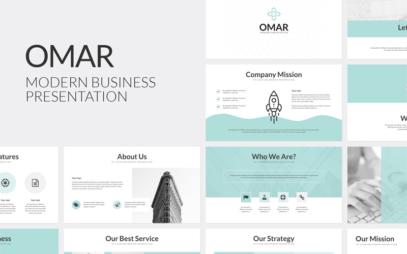 Omar Modern Business PowerPoint Template