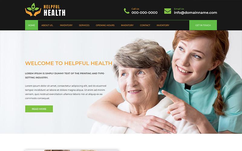 PSD шаблон Helpful Health - Здравоохранение