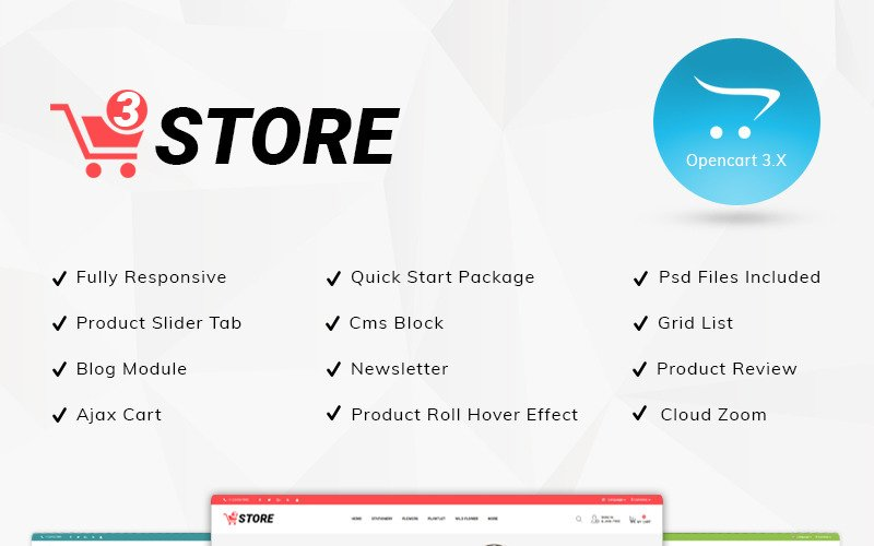 3store - Multipurpose Responsive OpenCart Template