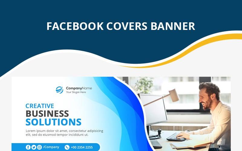 Modèle de médias sociaux de couverture Facebook d'entreprise