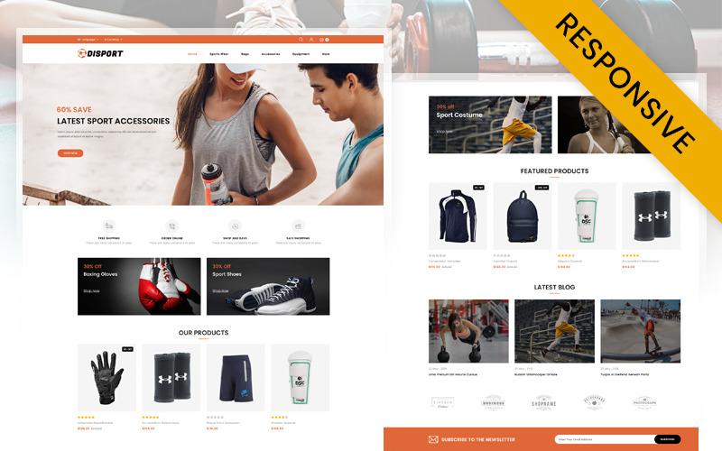 Disport - OpenCart шаблон магазина спортивных аксессуаров