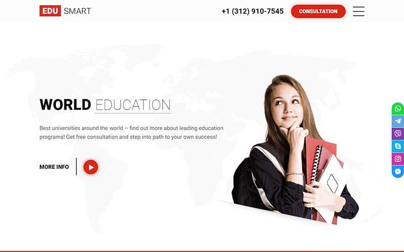 EDUSMART - Education Landing Page Template