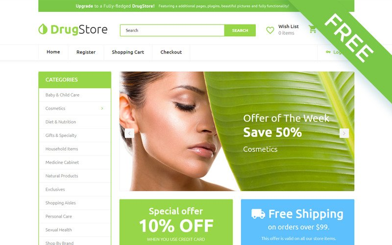 Drug Store - Drug Store Multipage Clean OpenCart Template