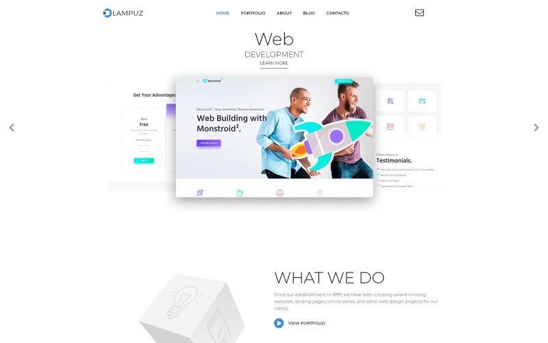 Lampuz - Web Development Multipurpose Animated WordPress Elementor Theme