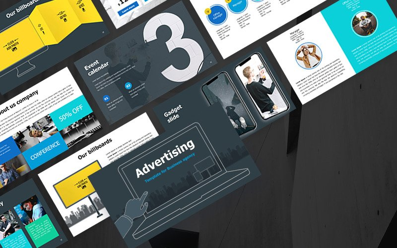 Advertising template for Business agency PowerPoint Template
