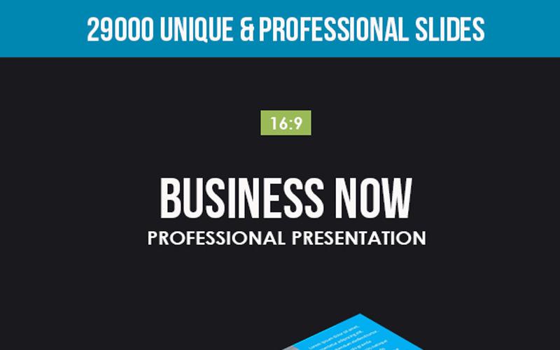 Business Now PowerPoint sablon