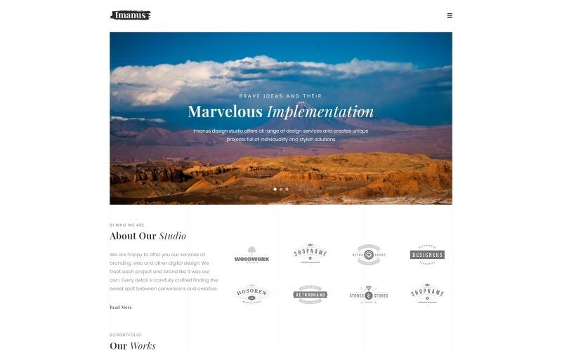 Imanus - Дизайн многоцелевой минимальной темы WordPress Elementor
