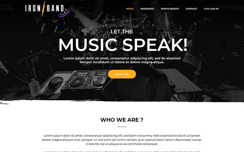 Iron Band - PSD шаблон музыкальной группы