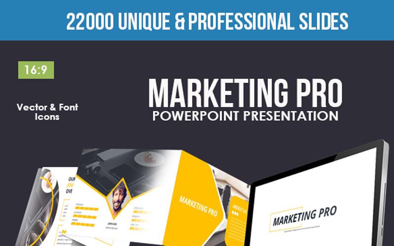 Modelo de PowerPoint do Marketing Pro
