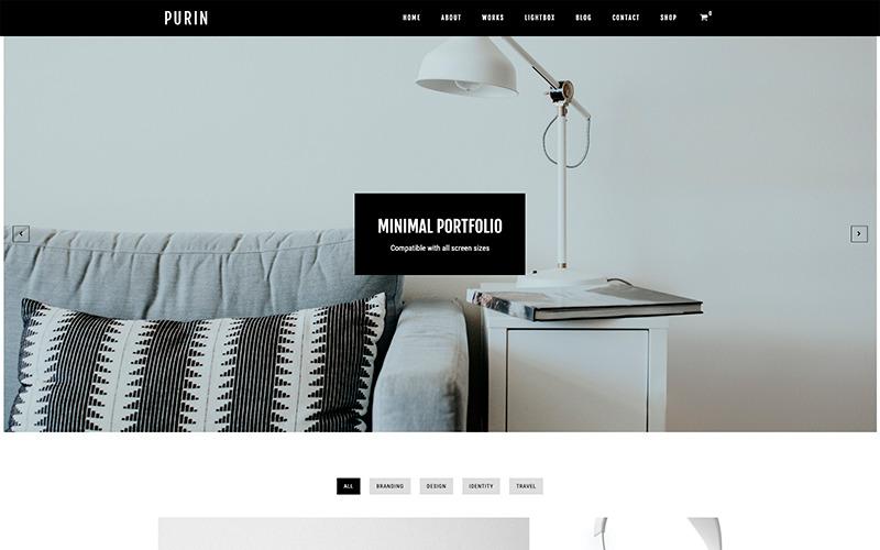 Purin - Minimal Portfolio & WooCommerce WordPress Theme