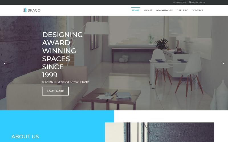 Spaco - Архитектура Многофункциональная современная тема WordPress Elementor