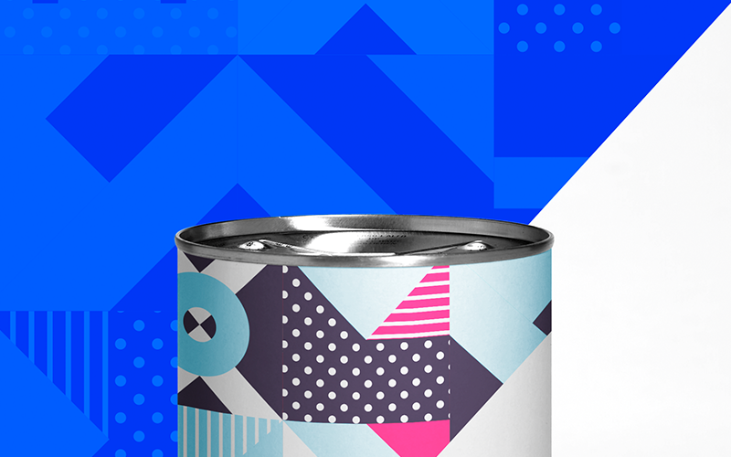 White Cans Set Product Mockup