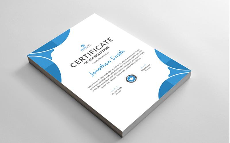 Modelo de certificado de design abstrato