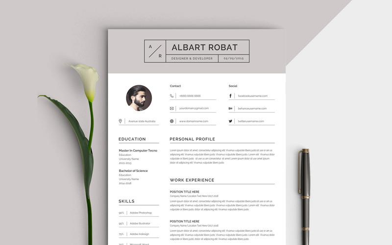 Albart Robat Resume Template