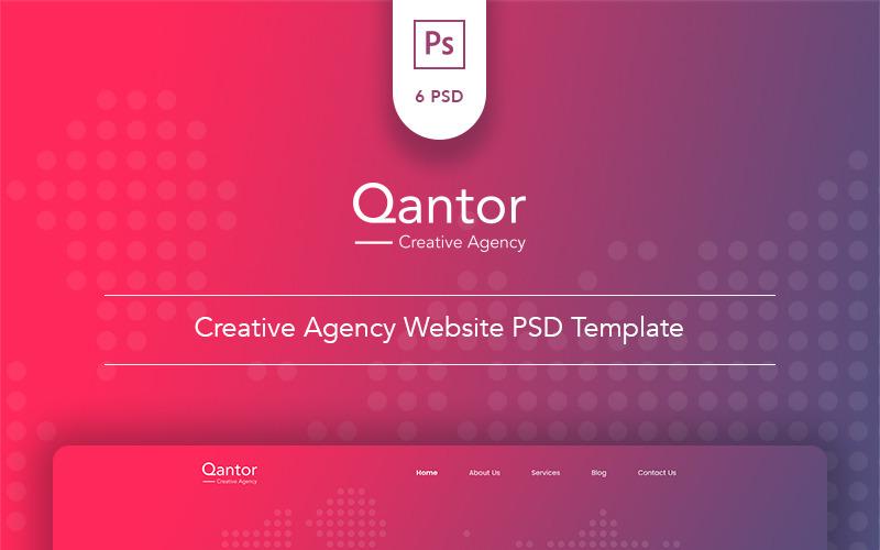 Qantor - Creative Agency Office PSD Template