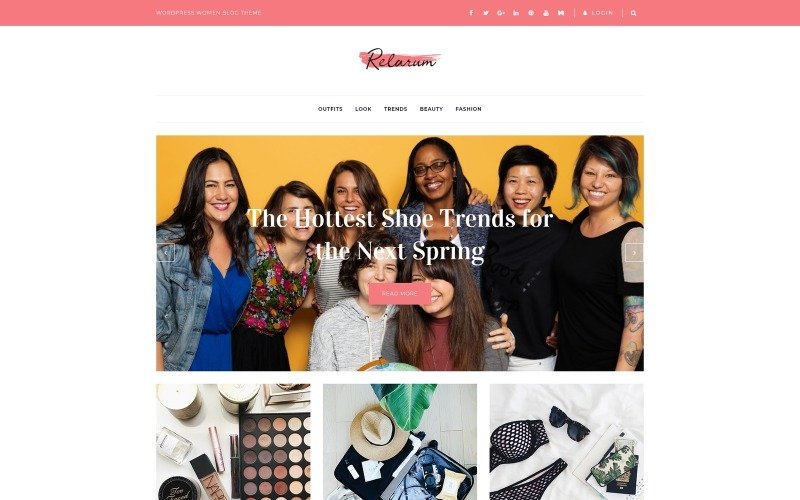 Relarum - Women Blog Uniwersalny klasyczny motyw WordPress Elementor