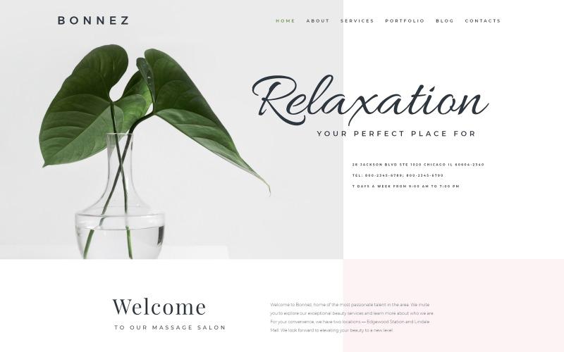 Bonnez - Готовая к использованию минимальная тема WordPress Elementor для массажного салона