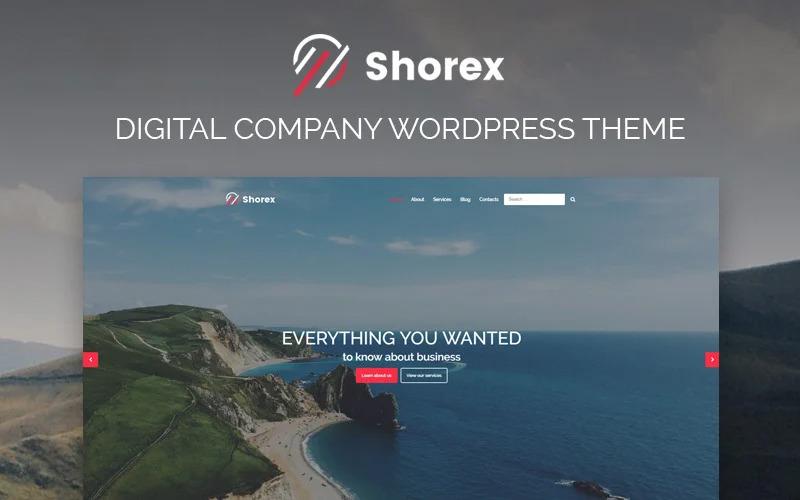 Shorex - цифровая многоцелевая современная тема WordPress Elementor