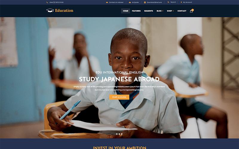 Oktatás WordPress téma