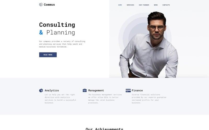 Commus - Business Multipurpose Minimal WordPress Elementor Theme