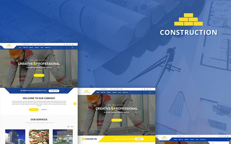Modello Joomla per attività di costruzione e costruzione