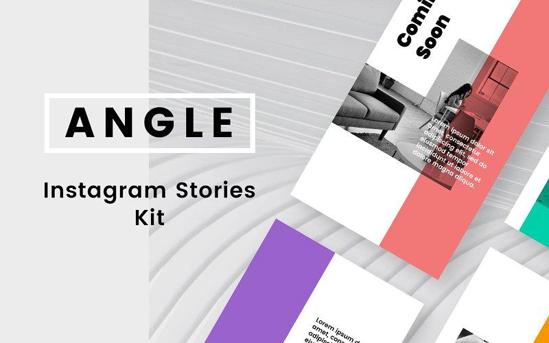 Angle Instagram Stories Kit Social Media Template