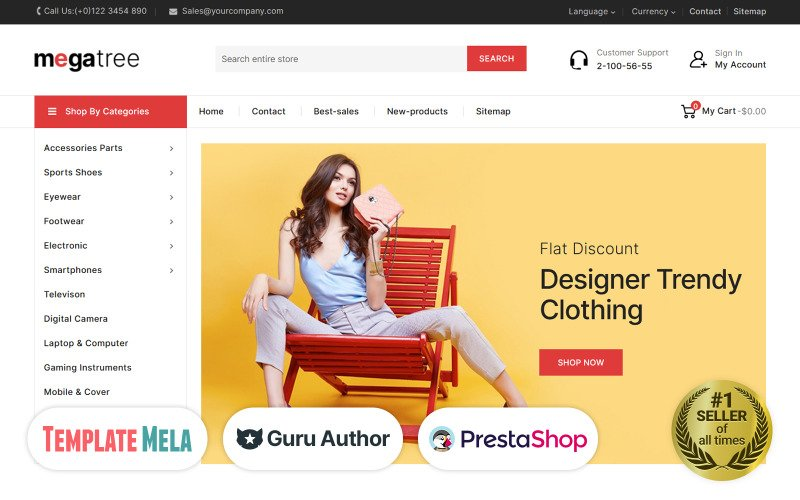 Megatree - Mehrzweck-Mega-Store-PrestaShop-Thema
