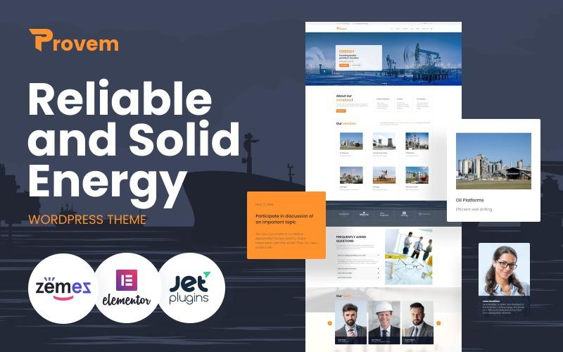 Provem - тема WordPress для надежной и надежной энергетики