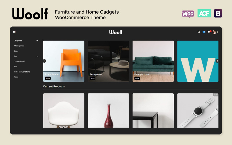 WOOLF - Тема WooCommerce для мебели и домашних гаджетов