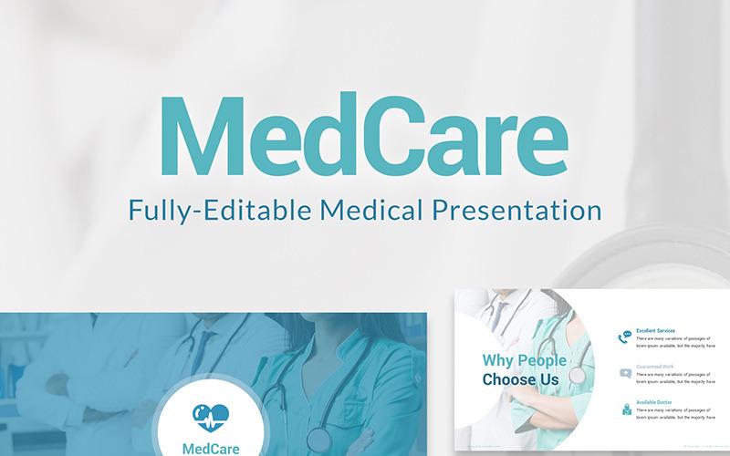 MedCare w pełni edytowalny szablon PPT Slajdy PowerPoint