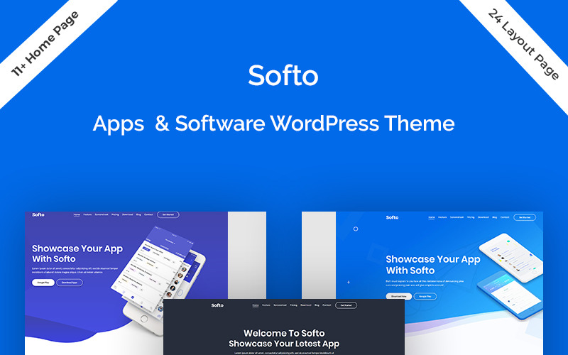 Softo - тема WordPress для Sass и приложений